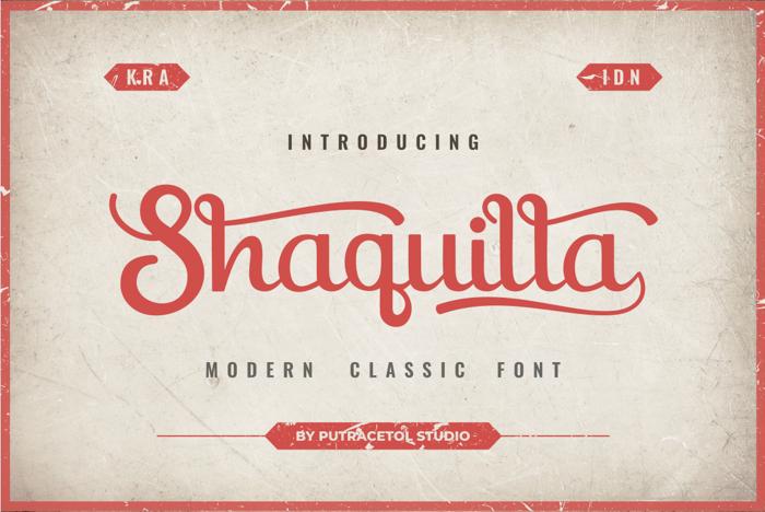 Shaquilla Font poster