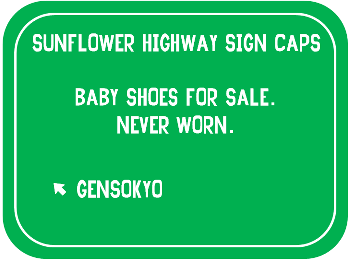 Sunflower Highway Sign Caps Font poster