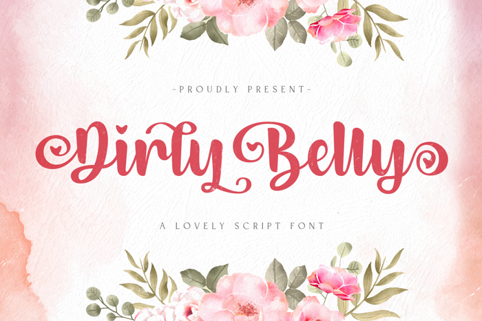 Dirly Belly Font poster