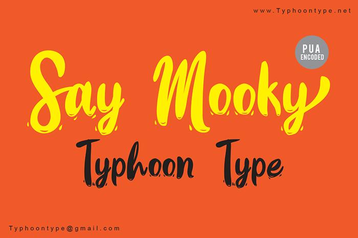Say Mooky Font poster