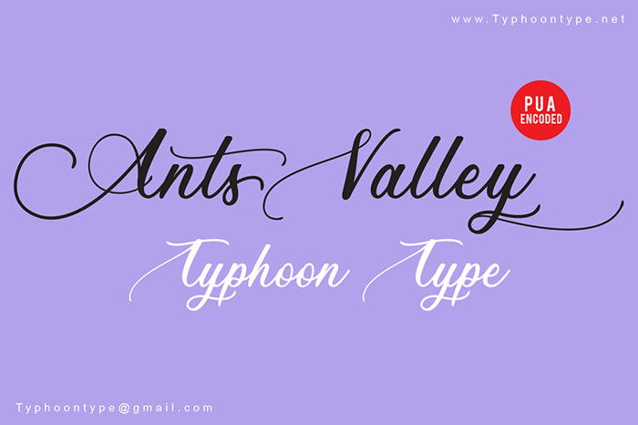 Ants Valley Font poster