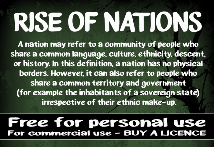 CF Rise of Nations Font poster