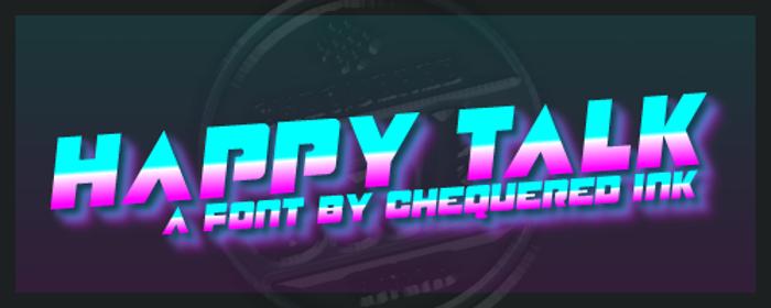 Happy Talk Font poster