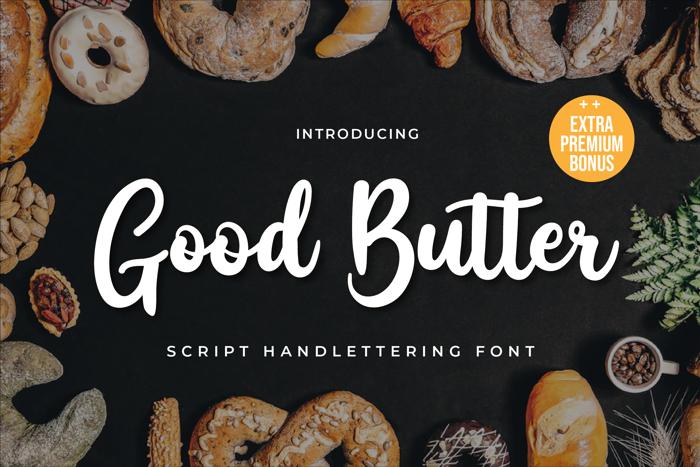 Good Butter Font poster