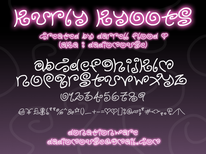 Kurly Kyoots Font poster