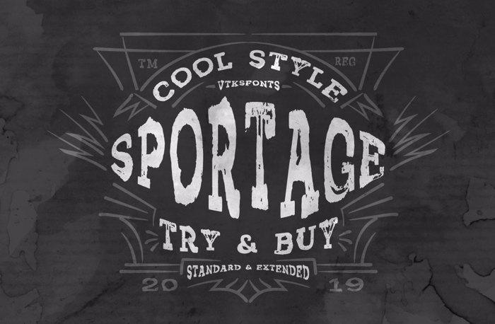 Vtks Sportage Font poster