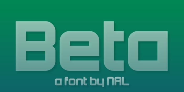 Beta Font poster