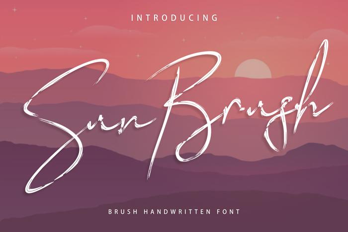 Sun Brush Font poster