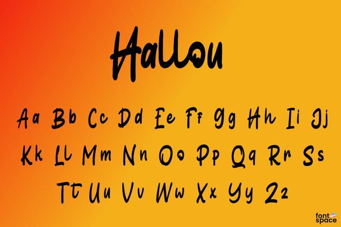 Hallou Font poster