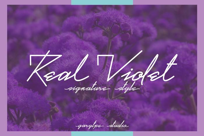 Real Violet Font poster