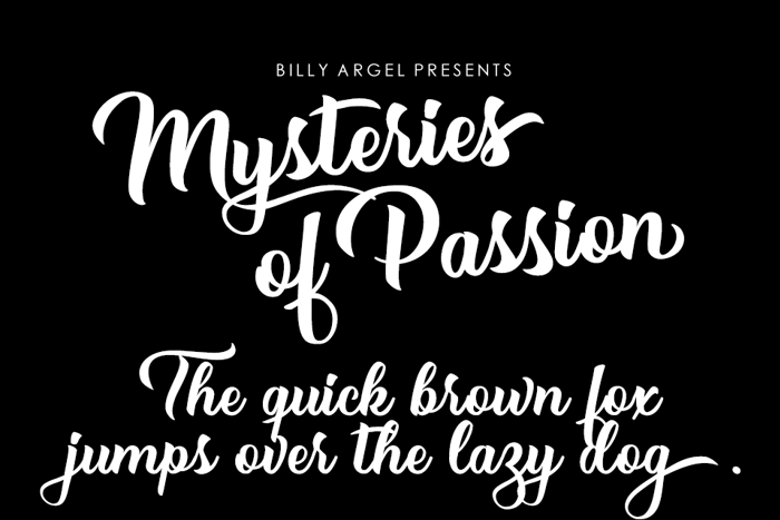 Mysteries of Passion Font poster