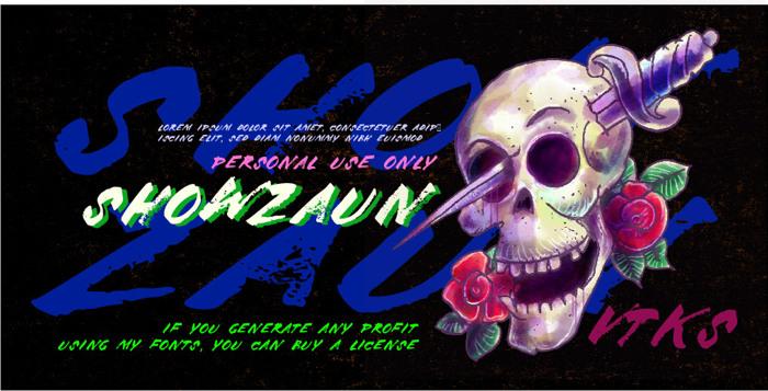 Vtks Showzaun Font poster