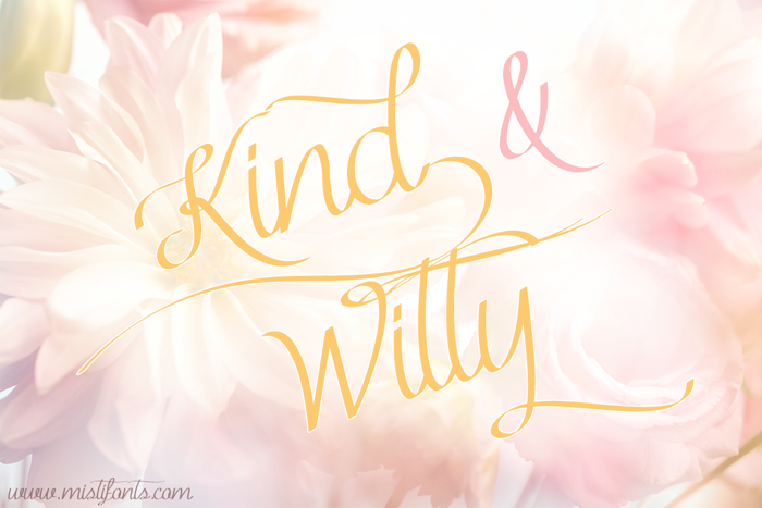 Kind & Witty Font poster