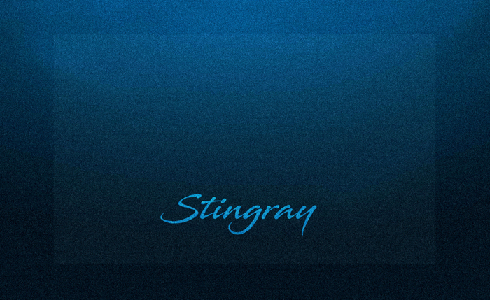 Stingray Font poster