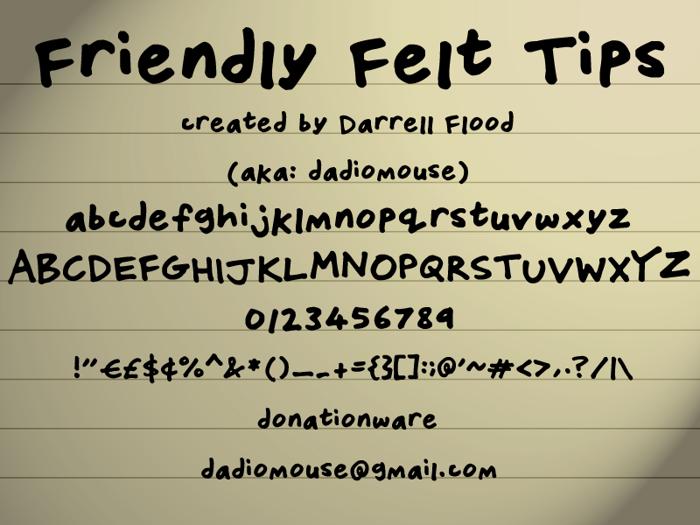 Friendly Felt Tips Font poster