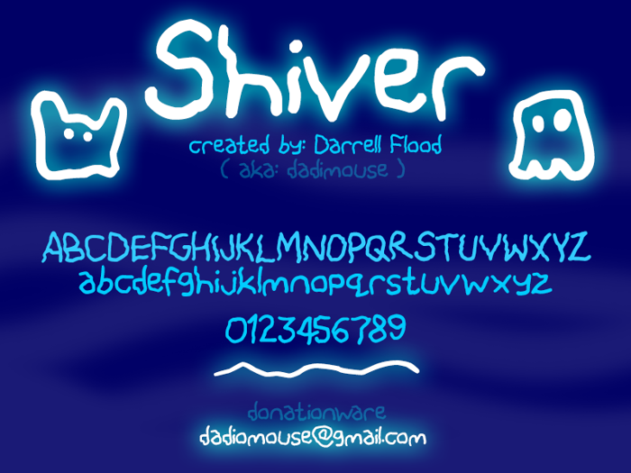 Shiver Font poster