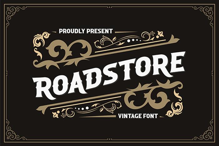 ROADSTORE Font poster