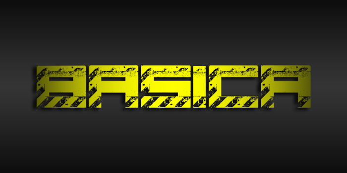 Basica industrial Font poster