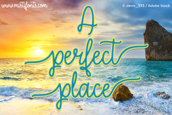 A Perfect Place Font poster