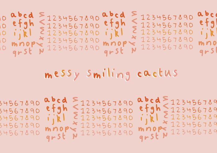 Messy Smiling Cactus Font poster