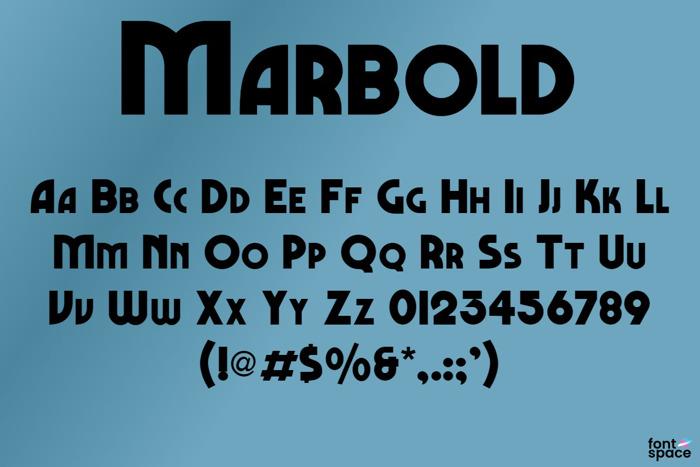 Marbold Font poster