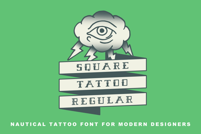 Square Tattoo Demo Font poster