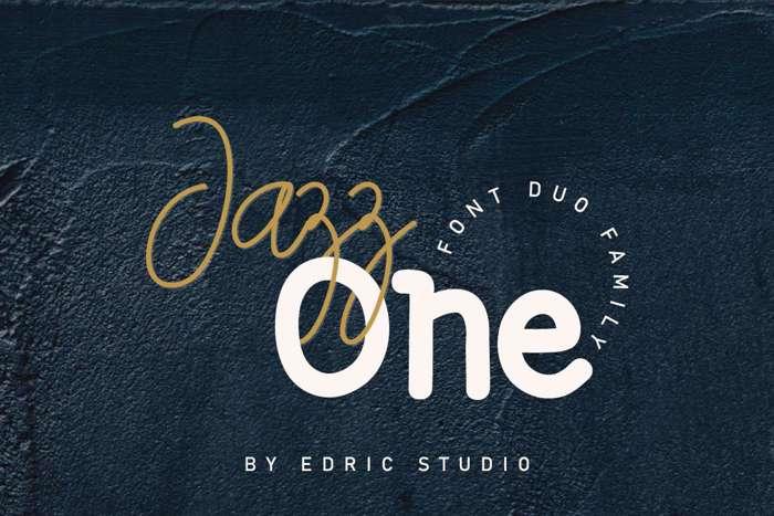 Jazz One Script Font poster