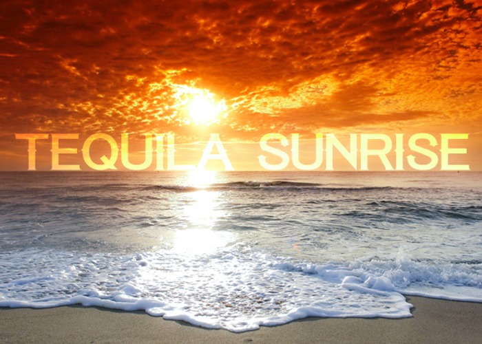 Tequila Sunrise Font poster