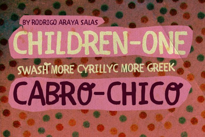 CHILDREN-ONE  Font poster