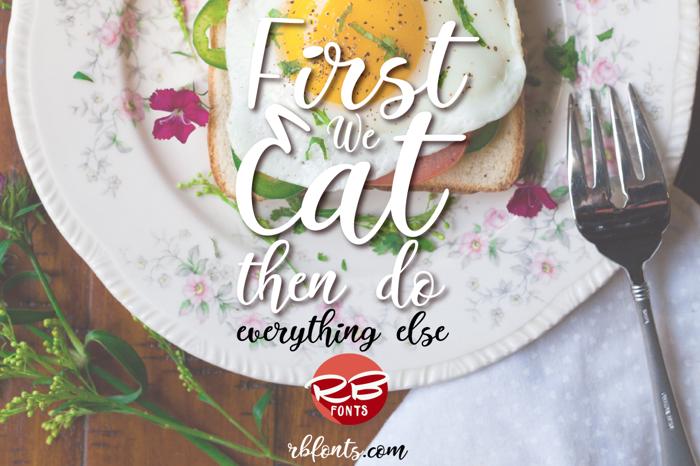 Italian Breakfast Font poster