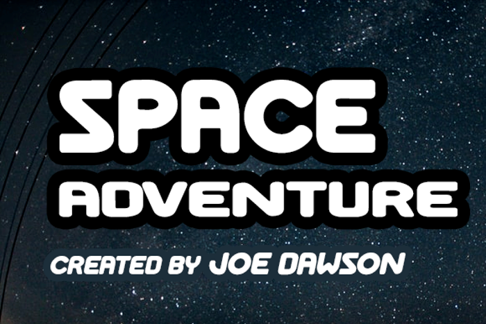 Space Adventure Font poster