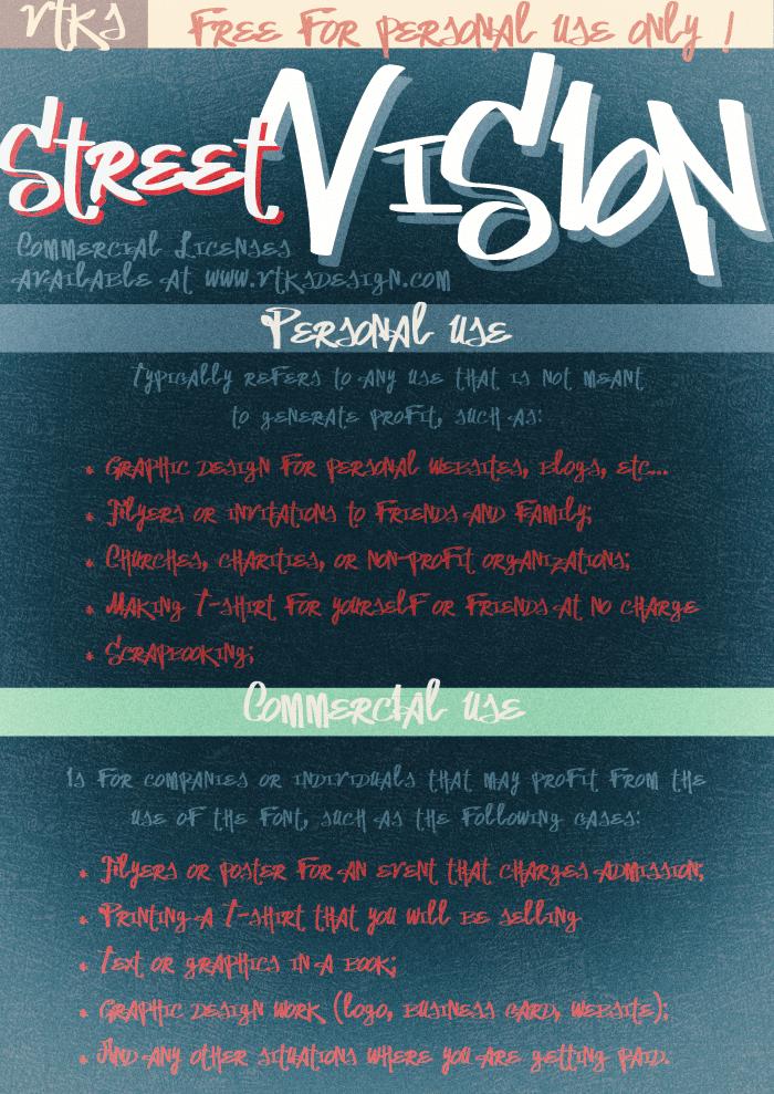 Vtks Street Vision Font poster