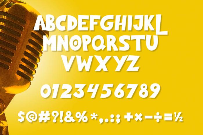 Dont Lie Font poster