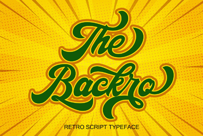 The Backro Font poster