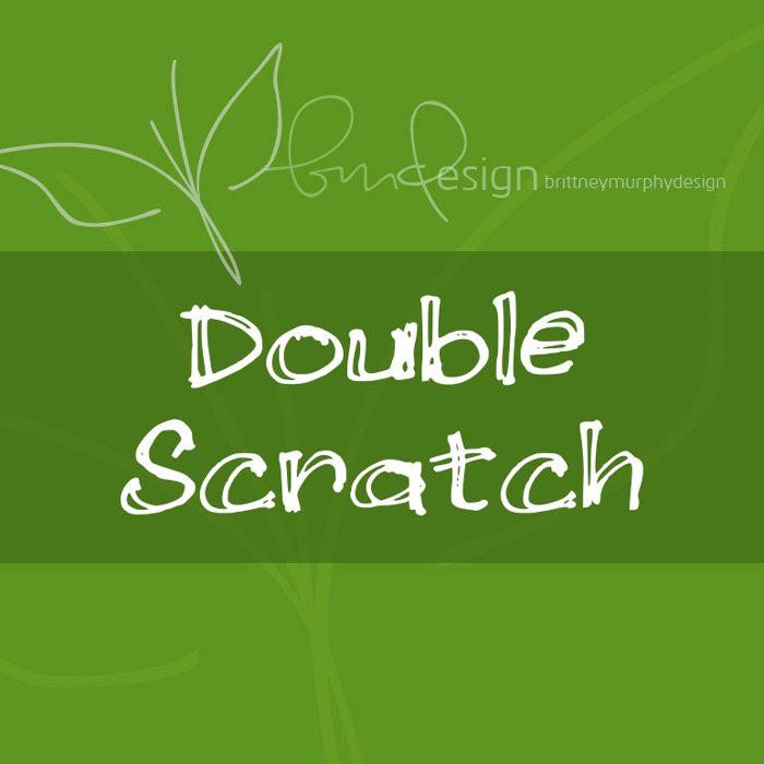 Double Scratch Font poster