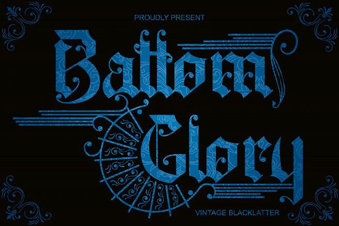 Battom Glory Font poster