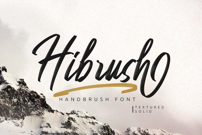 Hibrush Font poster