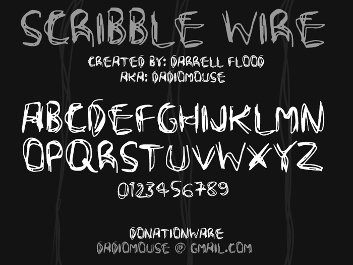 Scribble Wire Font poster