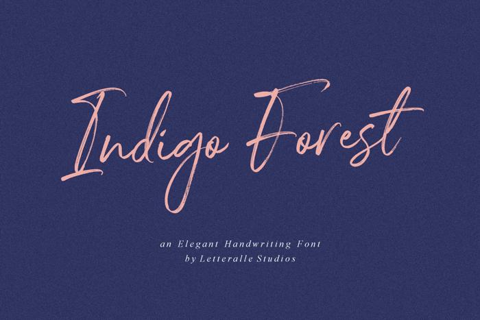 Indigo Forest Font poster