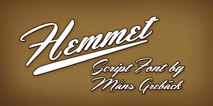 Hemmet Font poster