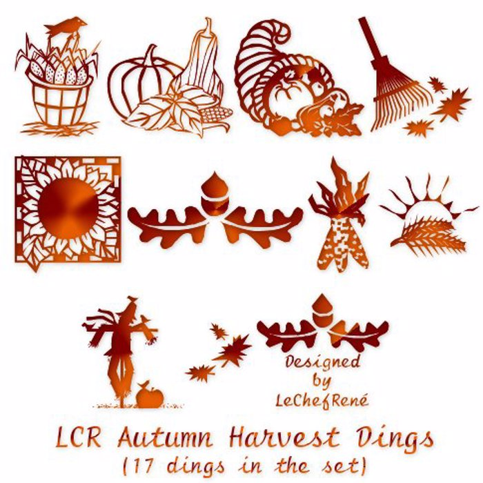 LCR Autumn Harvest Dings Font poster