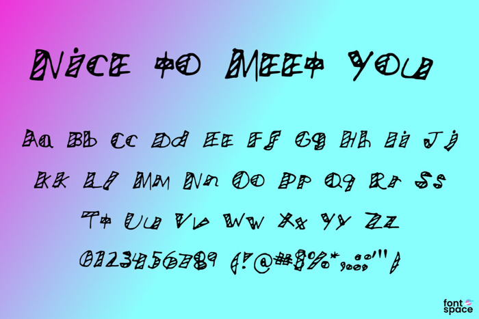 Nice to Meet You Font poster