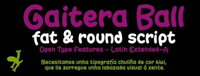 Gaitera Ball Font poster