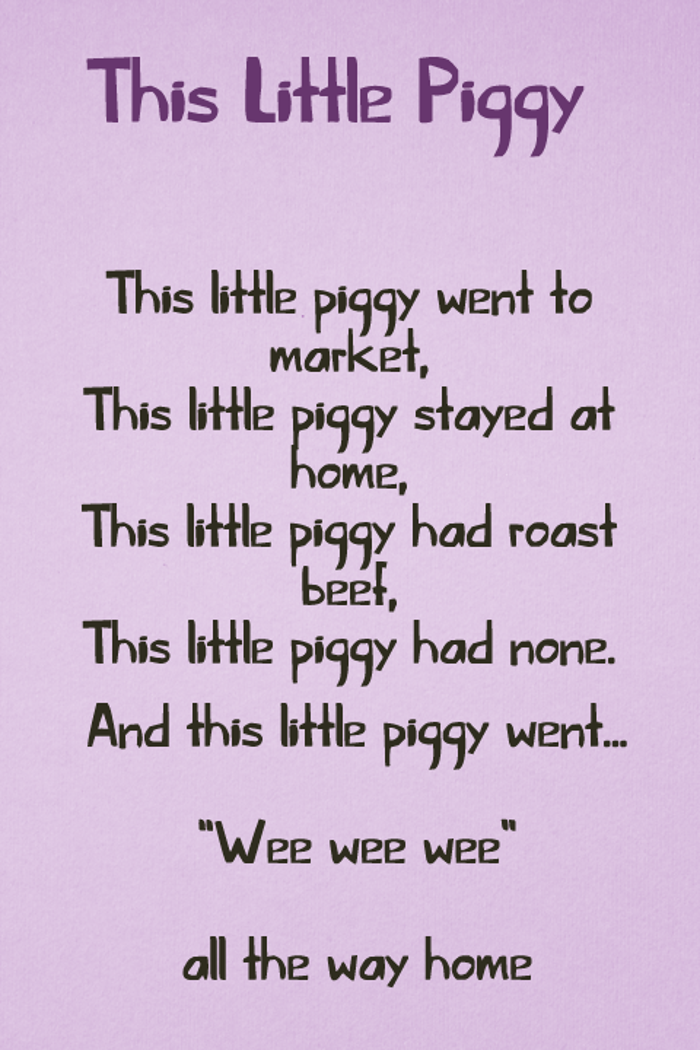 This Little Piggy Font poster