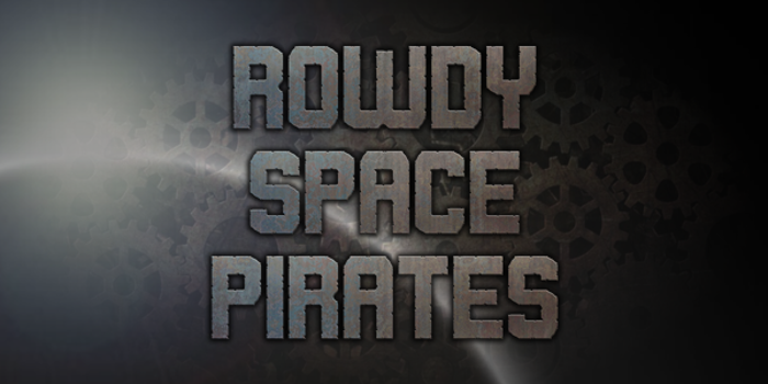 Rowdy Space Pirates Font poster