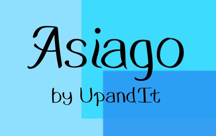 Asiago Font poster