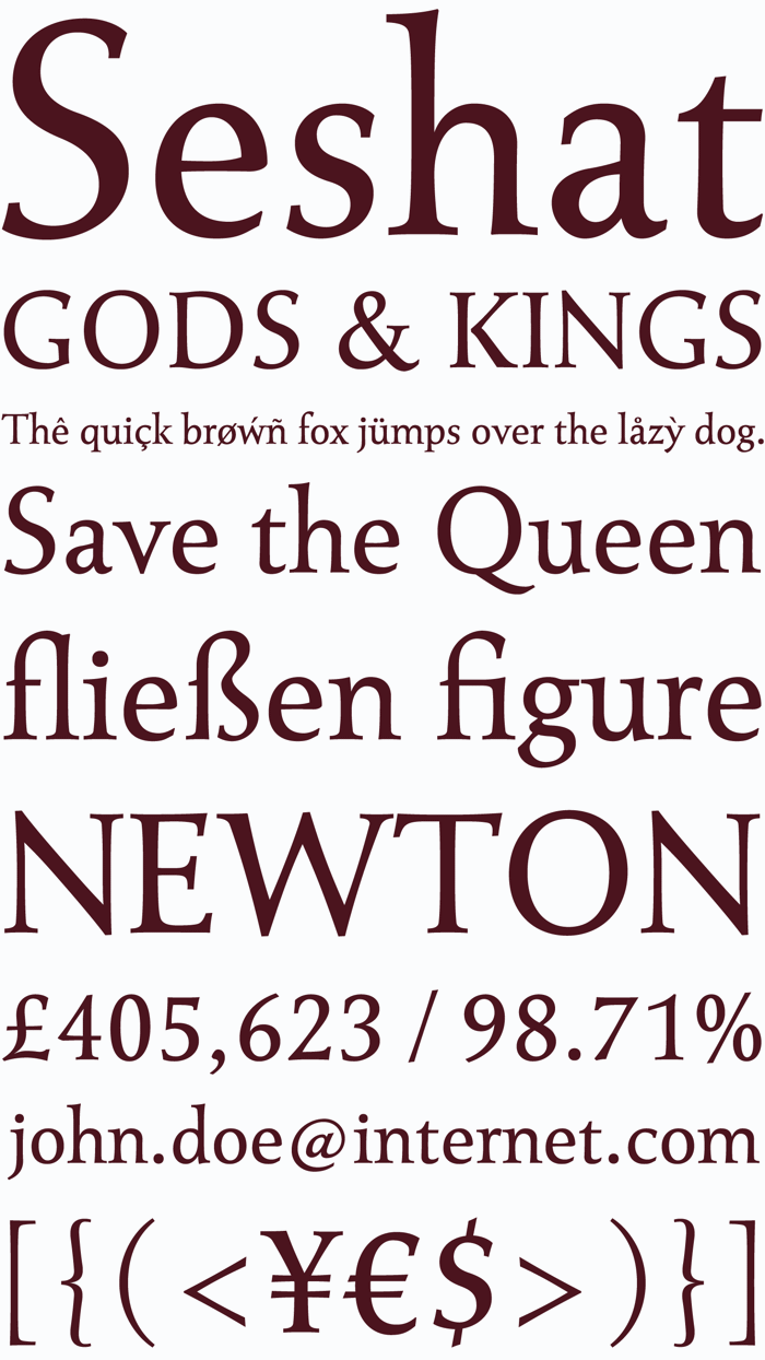 Seshat Font poster