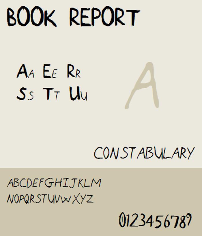 Book Report NBP Font poster
