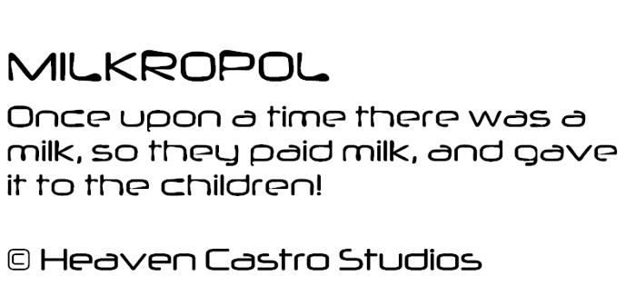 Milkropol Font poster