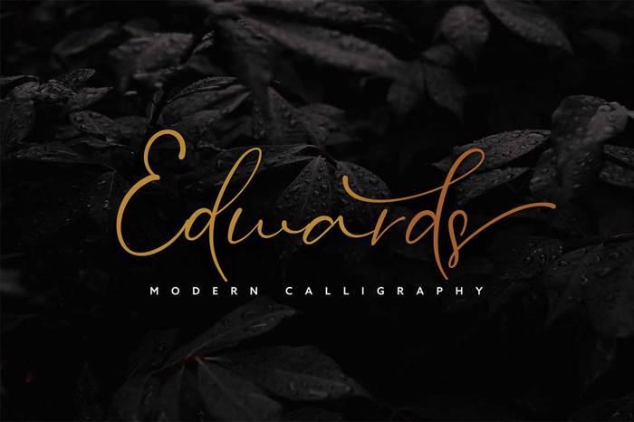 Edwards Font poster